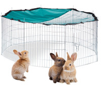 XL FREILAUFGEHEGE Käfig für Kleintiere mit Netz Ø145cm