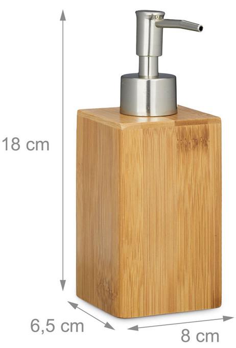 Portionierer SEIFENSPENDER Bambus 240ml – Bild 7