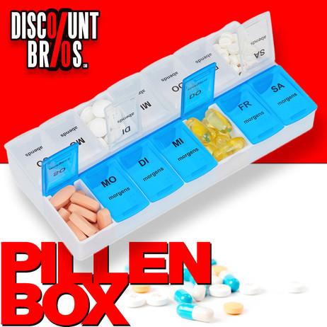 Tablettenbox PILLENBOX Wochenbox 7 Tage 2 Fächer – Medikamentenorganizer für eine Woche – Bild 1