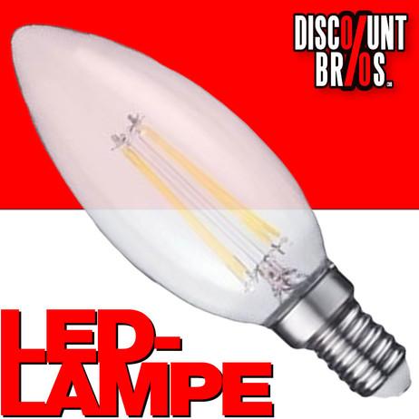 A++ 2W LED Leuchtmittel Licht Kerze Filament LED LAMPE Glühbirne Klassisch  C35 e14 WARMWEISS – Bild 1