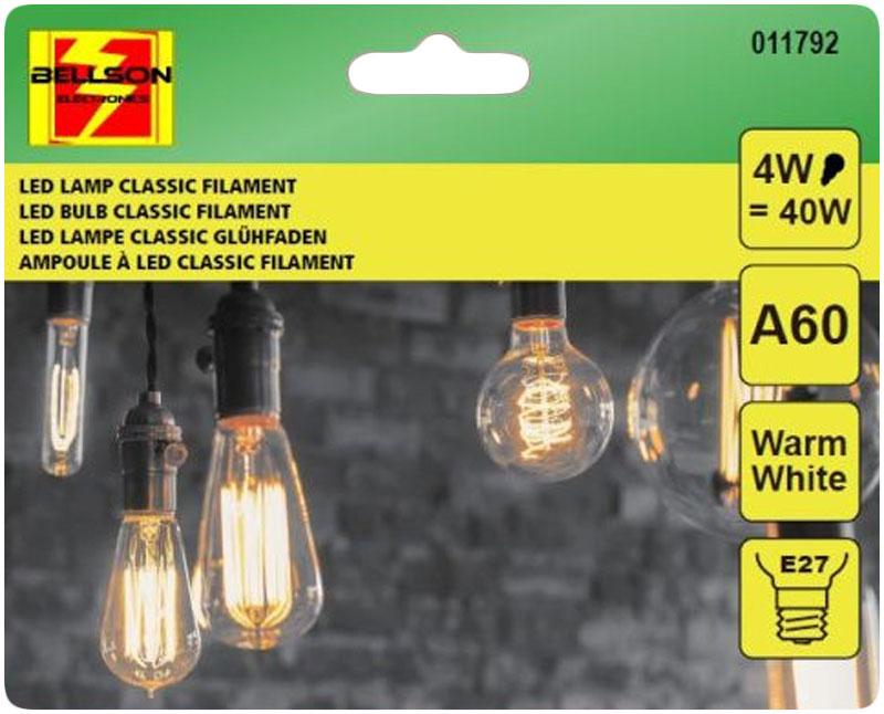 A++ 4W LED Leuchtmittel Licht Kugel Filament LED LAMPE Glühbirne Klassisch A60 e27 WARMWEISS