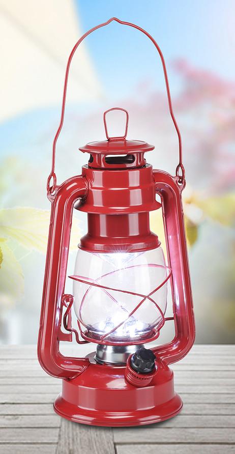 Retro CAMPINGLAMPE Sturmlaterne mit 15 dimmbaren LEDs – Bild 3