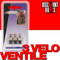3 VELO ERSATZ-VENTILE SET Fahrrad Ersatzventile mit Kappe Dunlop Blitzventil von BICYCLE GEAR 001