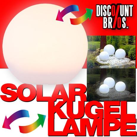 LED SOLAR LEUCHTKUGEL Kugelleuchte Kugellampe Ø30cm WARMWEISS + Farbwechsler