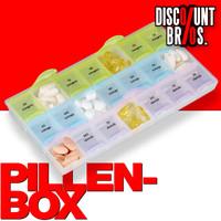 Tablettenbox PILLENBOX Wochenbox 7 Tage 3 Fächer – Medikamentenorganizer für eine Woche 001