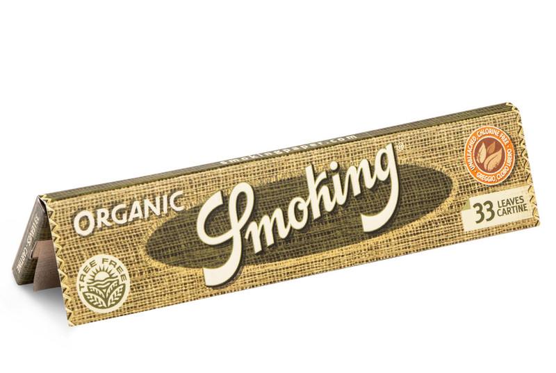 SMOKING ORGANIC Hemp HANF King Size Papers 33 Blatt Zigarettenpapier 110×44mm
