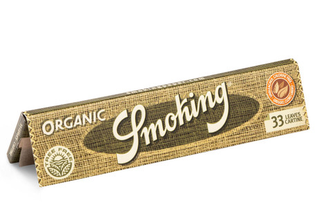 SMOKING ORGANIC Hemp HANF King Size Papers 33 Blatt Zigarettenpapier 110×44mm – Bild 3