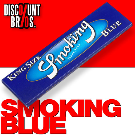SMOKING BLUE King Size Papers Blau 33 Blatt Zigarettenpapier 108×52mm