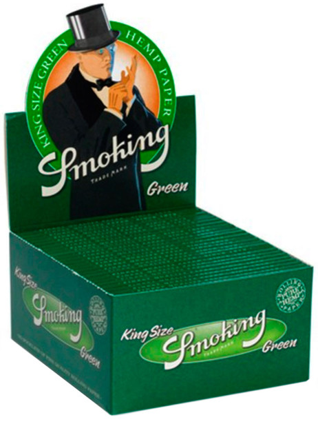 SMOKING GREEN Grün HANF King Size Hemp Papers 33 Blatt Zigarettenpapier 110×52mm – Bild 4