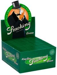 SMOKING GREEN Grün HANF King Size Hemp Papers 33 Blatt Zigarettenpapier 110×52mm