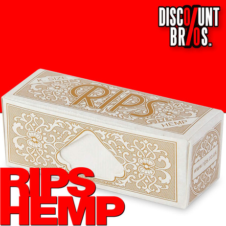 RIPS HEMP Hanf King Size Papers Braun 5m Zigarettenpapier 5m×53mm – Bild 1