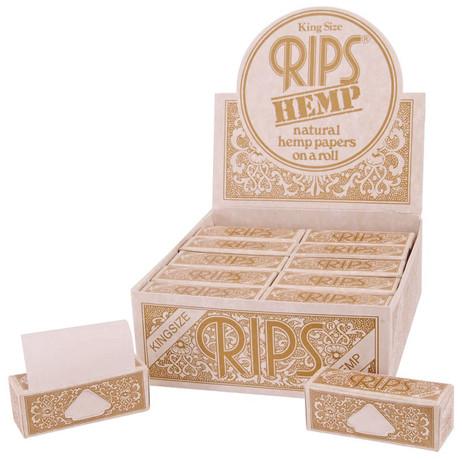 24 × RIPS HEMP Hanf King Size Papers Braun 5m Zigarettenpapier 5m×53mm – Bild 3
