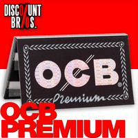 OCB PREMIUM Double Window Papers Black Schwarz Zigarettenpapier 100 Blatt 69×36mm