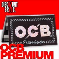 OCB PREMIUM Double Window Papers Black Schwarz Zigarettenpapier 100 Blatt 69×36mm 001