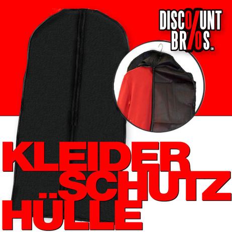 KLEIDERSCHUTZHÜLLE Kleiderhülle Kleidersack mit Reissverschluss SCHWARZ 61×135cm – Bild 1