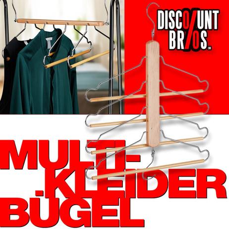 Platzsparender MULTI-KLEIDERBÜGEL Mehrfachkleiderbügel 2er-Set 8-tlg.