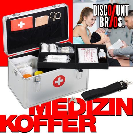 Medizinbox ERSTE HILFE KOFFER Arzneikasten Medizinkasten aus Aluminium
