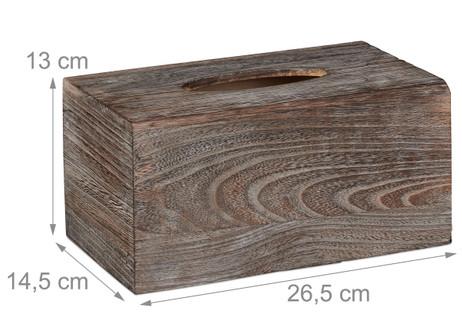 KOSMETIKTÜCHERBOX Tücherbox Tuchspender aus Paulowniaholz im Shabby-Style – Bild 6