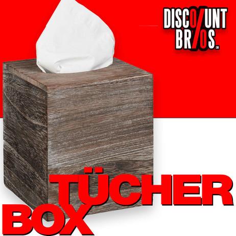 Kosmetiktücherbox TÜCHERBOX WÜRFEL Tücherspender aus Paulowniaholz im Shabby-Style  – Bild 1