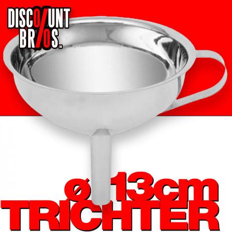 TRICHTER mit Sieb Filter  Edelstahl hochglanz von Five® Ø13cm – Bild 1