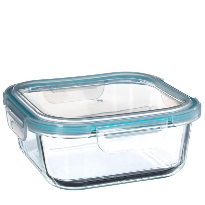 1180ml QUADRATISCHE Glas Frischhaltedose PREMIUM VORRATSDOSE Aufbewahrungsbox Frische Box