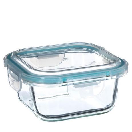 530ml QUADRATISCHE Glas Frischhaltedose PREMIUM VORRATSDOSE Aufbewahrungsbox Frische Box – Bild 3