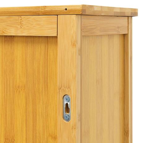 Badezimmerschrank BAD-HÄNGE-SCHRANK Hängeschrank aus Bambusholz LAMELL – Bild 7
