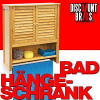 Badezimmerschrank BAD-HÄNGE-SCHRANK Hängeschrank aus Bambusholz LAMELL 001