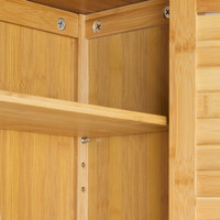 Badezimmerschrank BAD-HÄNGE-SCHRANK Hängeschrank aus Bambusholz LAMELL