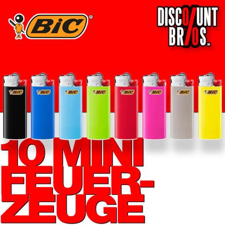 10 BIC® Einwegfeuerzeuge MINI FEUERZEUGE farbig – Bild 1