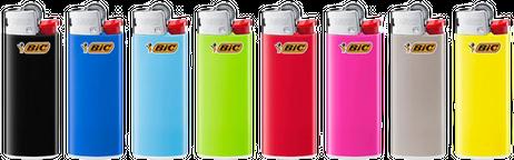 50 Stk. BIC® Einwegfeuerzeuge MINI FEUERZEUGE farbig – Bild 3