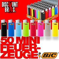 50 Stk. BIC® Einwegfeuerzeuge MINI FEUERZEUGE farbig