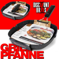 Quttin GRILLPFANNE CAMPING Aluminium Pfanne für Induktion + alle Herdarten 28×28cm 001