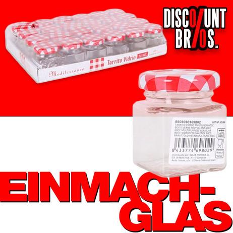 60ml EINMACHGLÄSER Einmachglas Konfitürenglas GLAS WÜRFEL ECKIG – Bild 1
