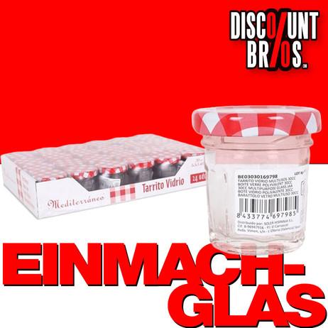 30ml EINMACHGLÄSER Einmachglas Konfitürenglas GLAS ACHTECK – Bild 1