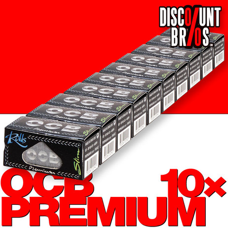 10 × OCB Rollen Black Slim Papers Rolle 4m Zigarettenpapier 4m×44mm – Bild 1
