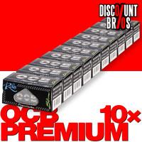 10 × OCB Rollen Black Slim Papers Rolle 4m Zigarettenpapier 4m×44mm