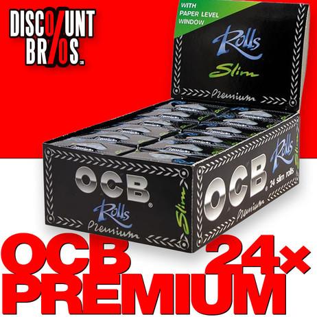 24 × OCB Rollen Black Slim Papers Rolle 4m Zigarettenpapier 4m×44mm – Bild 1
