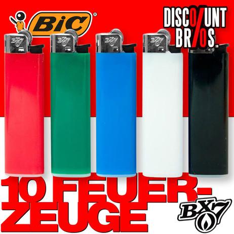 10 Stk. BIC BX7 F23 Einwegfeuerzeuge FEUERZEUGE farbig  – Bild 1