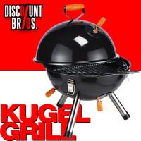 Tragbarer Holzkohle KUGELGRILL BBQ Koffergrill Grill SCHWARZ Ø32cm