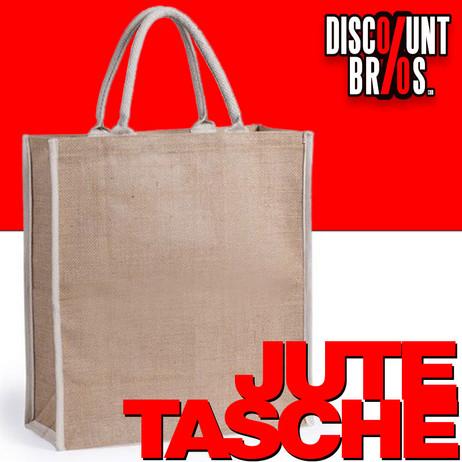 Tragetasche JUTE TASCHE Einkaufstasche Tasche 42×38×16cm – Bild 1