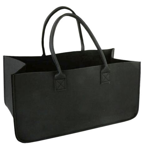 Tragetasche LEDERTASCHE Tasche für Kaminholz aus Kunstleder 50×25×25cm – Bild 3