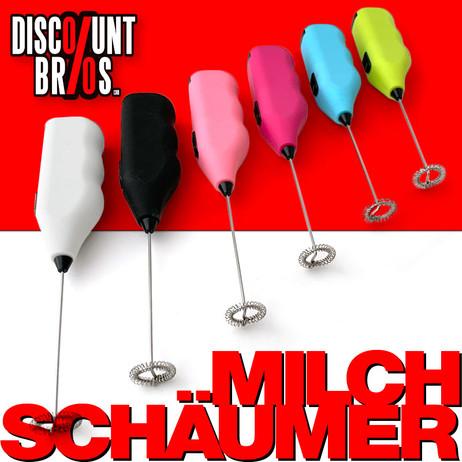 Mini-Mixer MILCHSCHÄUMER Milchaufschäumer in verschiedenen Farben – Bild 1