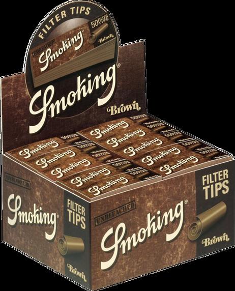 10 × SMOKING BROWN Filter Tips 50 Blatt 20x60mm – Bild 3