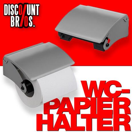 Toilettenpapierhalter WC-PAPIER-HALTER zur Wandmontage GRAU – Bild 1
