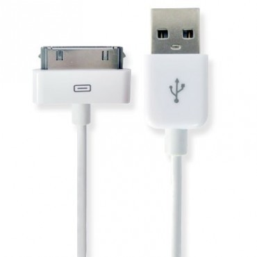 USB-2 Kabel Datenkabel / Dock Connector für iPhone, iPod oder iPad, Länge: 1m – Bild 3