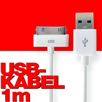 USB-2 Kabel Datenkabel / Dock Connector für iPhone, iPod oder iPad, Länge: 1m