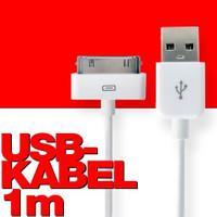 USB-2 Kabel Datenkabel / Dock Connector für iPhone, iPod oder iPad, Länge: 1m 001