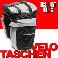 Multifunktion GEPÄCKTASCHEN für Velo- / Fahrrad- Gepäckträger SCHWARZ-GRAU oder BLAU