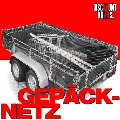 GEPÄCKNETZ Anhängernetz Ladungssicherungsnetz elastisch 1,25×2,1m dehnbar bis 2×3m